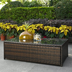 Buy Crosley Furniture Palm Harbor Outdoor Wicker Glass Top Table on sale online