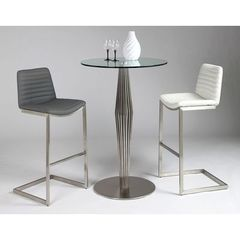 Buy Pastel Furniture Alexandria 3 Piece 30 Inch Round Pub Table Set in Stainless Steel on sale online
