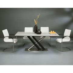 Buy Pastel Furniture Charlize 5 Piece 71x36 Rectangular Dining Room Set in Wenge on sale online