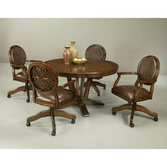 Buy Pastel Furniture Devon Coast 5 Piece 54x54 Round Dining Room Set w/ Casters Side Chairs on sale online