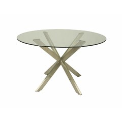 Buy Pastel Furniture Eritrea 48x48 Round Table w/ Glass Top on sale online