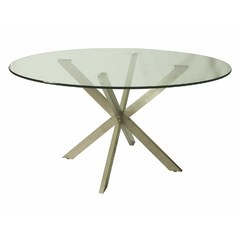 Buy Pastel Furniture Eritrea 56x56 Round Table w/ Glass Top on sale online