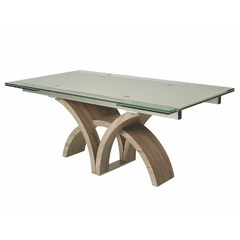 Buy Pastel Furniture Fountain Valley 106x37 Table in Light on sale online