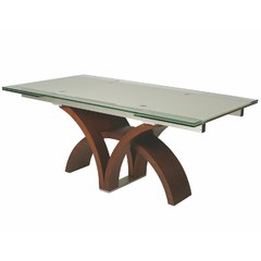Buy Pastel Furniture Fountain Valley 106x37 Table in Walnut on sale online