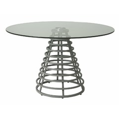 Buy Pastel Furniture Fuego Maya 48x48 Round Dining Table in Grey on sale online