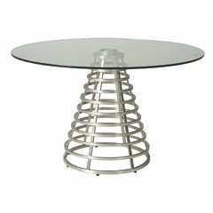 Buy Pastel Furniture Fuego Maya 48x48 Round Dining Table w/ Glass Top on sale online