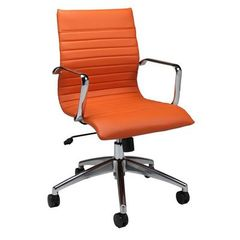 Buy Pastel Furniture Janette 38 Inch Office Chair in Orange on sale online