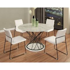 Buy Pastel Furniture Janette 5 Piece 47x47 Round Dining Room Set in Black on sale online