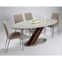 Buy Pastel Furniture Judith 5 Piece 79x40 Oval Dining Room Set in Walnut on sale online