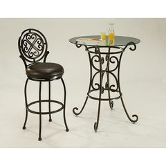 Buy Pastel Furniture Magnolia 2 Piece 30 inch Round Pub Table Set in Autumn Rust on sale online