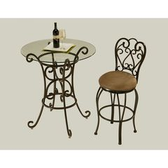 Buy Pastel Furniture Magnolia 2 Piece 30 inch Round Pub Table Set w/ Glass Top on sale online