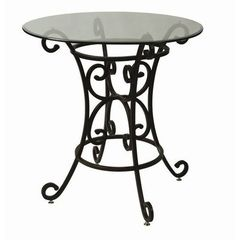 Buy Pastel Furniture Magnolia 30 inch Round Pub Table w/ Glass Top on sale online