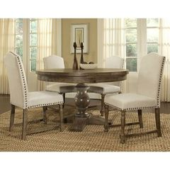Buy Pastel Furniture Utopia 5 Piece 52x52 Round Dining Room Set in Beige on sale online