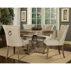 Buy Pastel Furniture Utopia 5 Piece 52x52 Round Dining Room Set in Charcoal on sale online