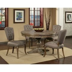 Buy Pastel Furniture Utopia 5 Piece 52x52 Round Dining Room Set on sale online