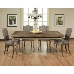 Buy Pastel Furniture Utopia 5 Piece 72x42 Rectangular Dining Room Set in Charcoal on sale online
