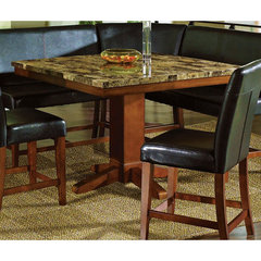 Buy Steve Silver Plato Sectional Marble Top 48x48 Counter Height Table on sale online