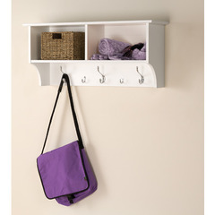 Buy Prepac 36 Inch Wide Hanging Entryway Shelf in White on sale online