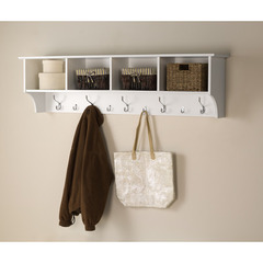 Buy Prepac 60 Inch Wide Hanging Entryway Shelf in White on sale online