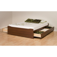 Buy Prepac Coal Harbor Mates Platform Storage Bed w/ 6 Drawers in Warm Cherry on sale online