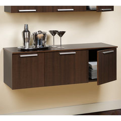 Buy Prepac Coal Harbor Wall Mounted Buffet in Espresso on sale online
