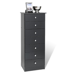 Buy Prepac Edenvale 7 Drawer Tall Chest in Black on sale online