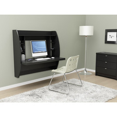 Buy Prepac 43x20 Floating Desk w/ Storage in Black on sale online