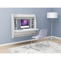 Buy Prepac 43x20 Floating Desk w/ Storage in White on sale online