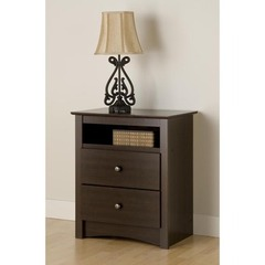 Buy Prepac Fremont 2 Drawer Tall Nightstand w/ Open Cubbie on sale online
