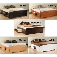 Buy Prepac Queen 6 Drawer Platform Storage Bed on sale online