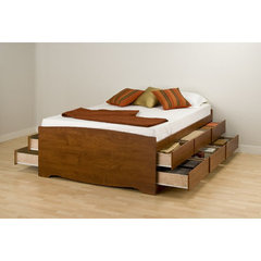 Buy Prepac Tall Queen 12 Drawer Platform Storage Bed on sale online
