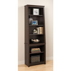 Buy Prepac Tall Slant-Back Bookcase in Espresso on sale online