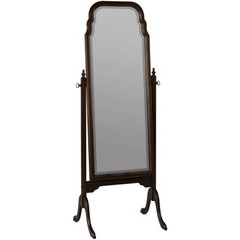 Buy Cooper Classics Queen Anne Cheval Floor Mirror in Cherry on sale online