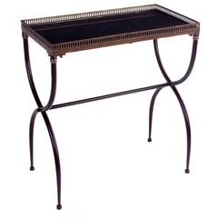 Buy IMAX Worldwide Rectangular Black X-Leg 26x14 Rectangle Accent Table on sale online