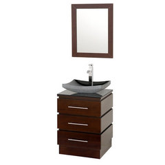 Buy Wyndham Collection Rioni 22.25 Inch Smoke Glass Top Single Sink Vanity Set on sale online