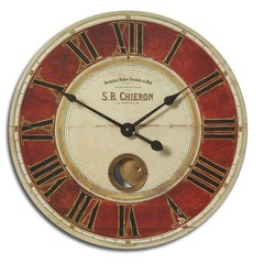 Buy Uttermost S.B. Chieron 23 Inch Round Wall Clock on sale online