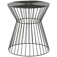 Buy Safavieh Adele Iron Wire Stool in Black Epoxy on sale online