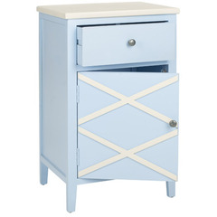 Buy Safavieh Alan 18x15 End Table in Light Blue & White on sale online