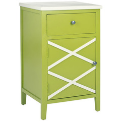 Buy Safavieh Alan 18x15 End Table in Lime Green & White on sale online