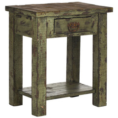 Buy Safavieh Alfred 21x14 End Table in Antique Green on sale online