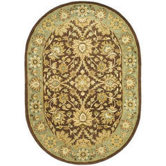 Buy Safavieh Antiquities Traditional Oval Rug in Chocolate, Blue - AT249D on sale online