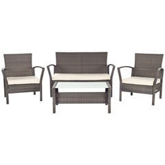 Buy Safavieh Avaron 4 Piece Outdoor Set in Brown & Beige on sale online