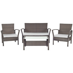 Buy Safavieh Avaron 4 Piece Outdoor Set in Brown & Grey on sale online