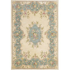 Buy Safavieh Bergama Traditional Medium Rectangular Rug in Ivory, Blue - BRG166A on sale online