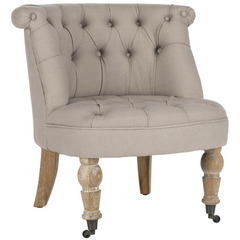 Buy Safavieh Carlin Tufted Chair in Taupe on sale online