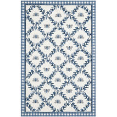 Buy Safavieh Chelsea Country Large Rectangular Rug in Ivory, Blue - HK55D on sale online