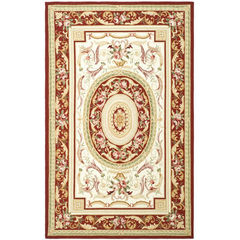 Buy Safavieh Chelsea Country Large Rectangular Rug in Ivory, Burgundy - HK72A on sale online