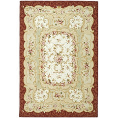 Buy Safavieh Chelsea Country Large Rectangular Rug in Ivory, Burgundy - HK73A on sale online