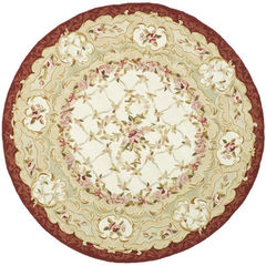 Buy Safavieh Chelsea Country Round Rug in Ivory, Burgundy - HK73A on sale online