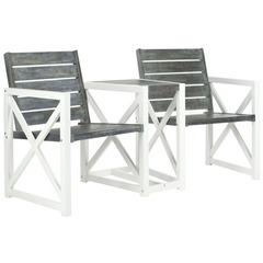 Buy Safavieh Jovanna 2 Seat Bench in White Frame & Ash Grey Seat on sale online